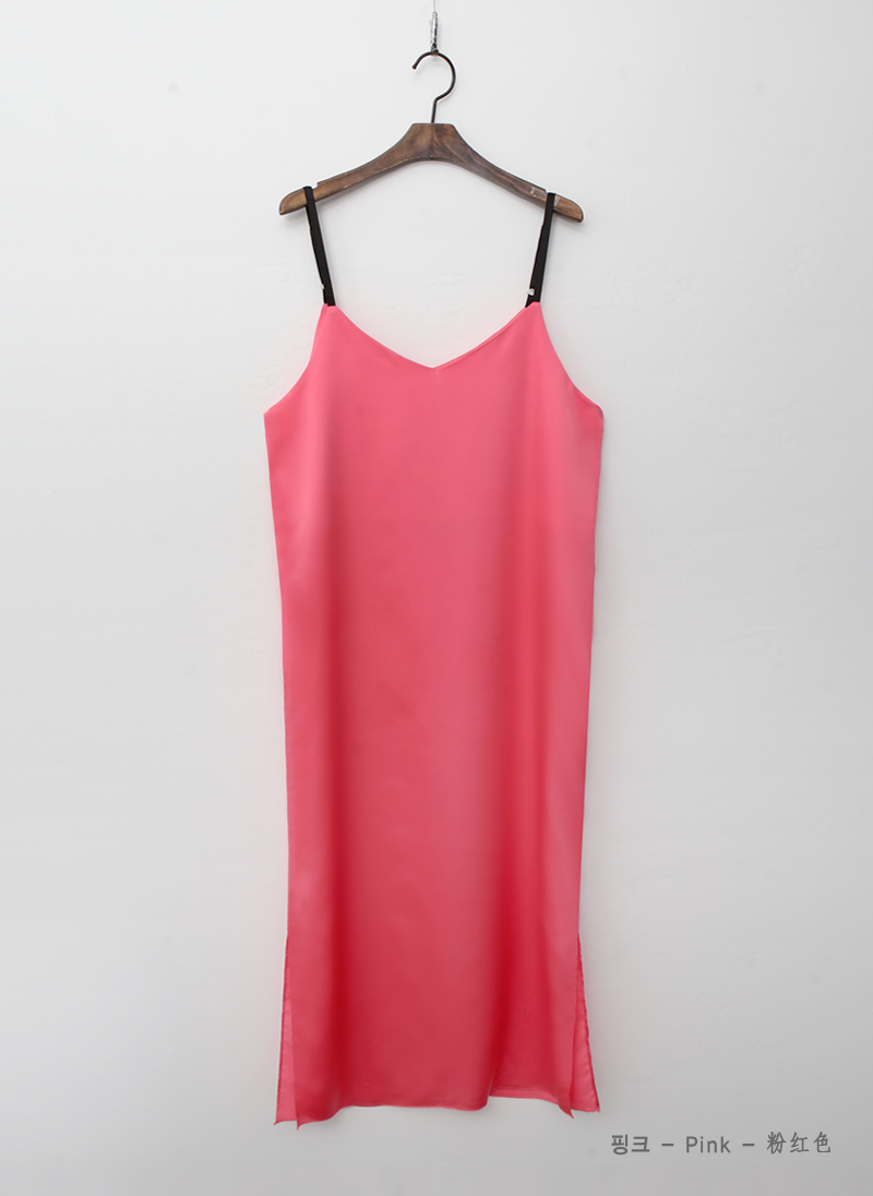 The braided layered cool slip dress 3colors