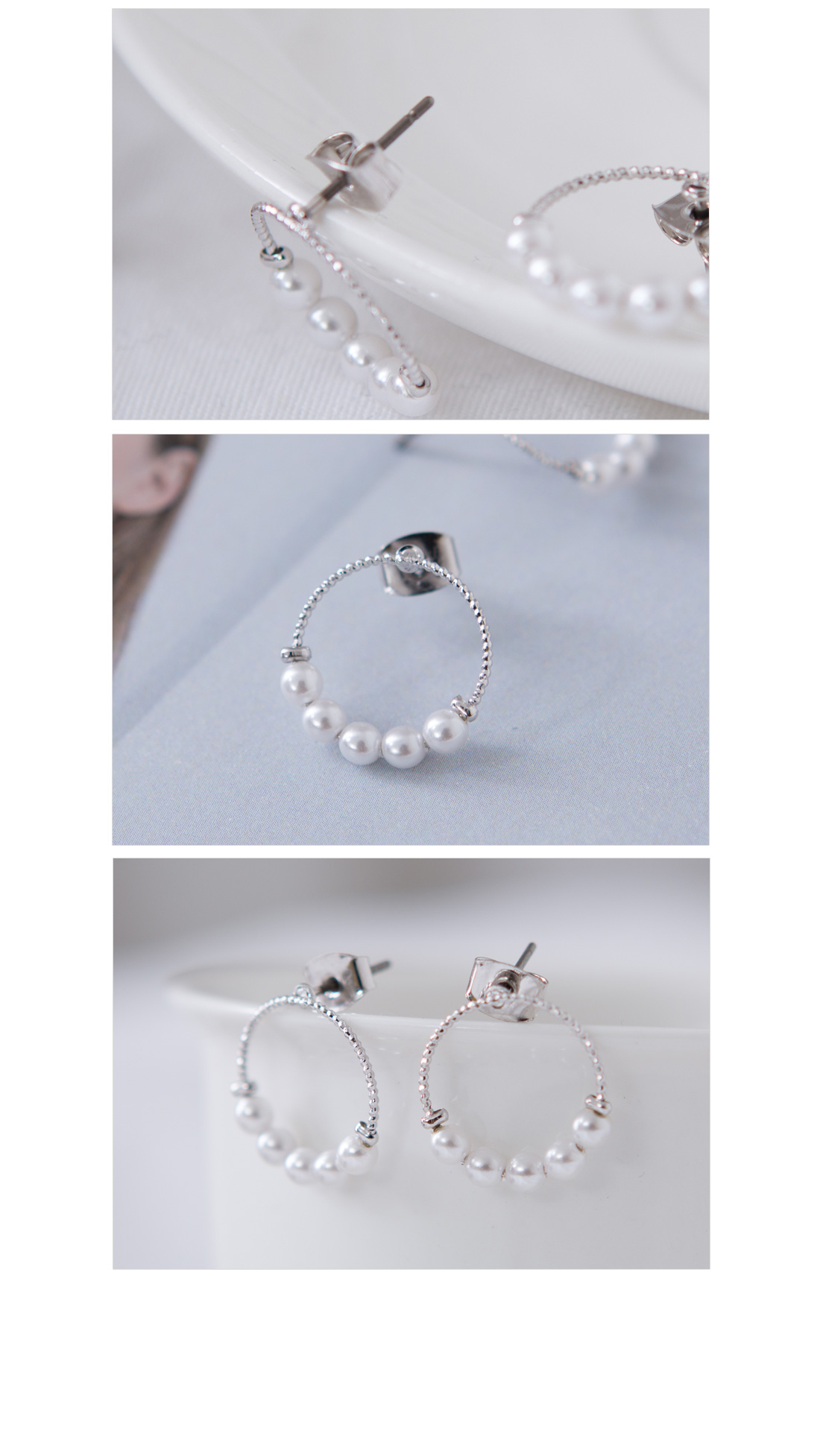 Lovely Circle Pearl Earring #85062