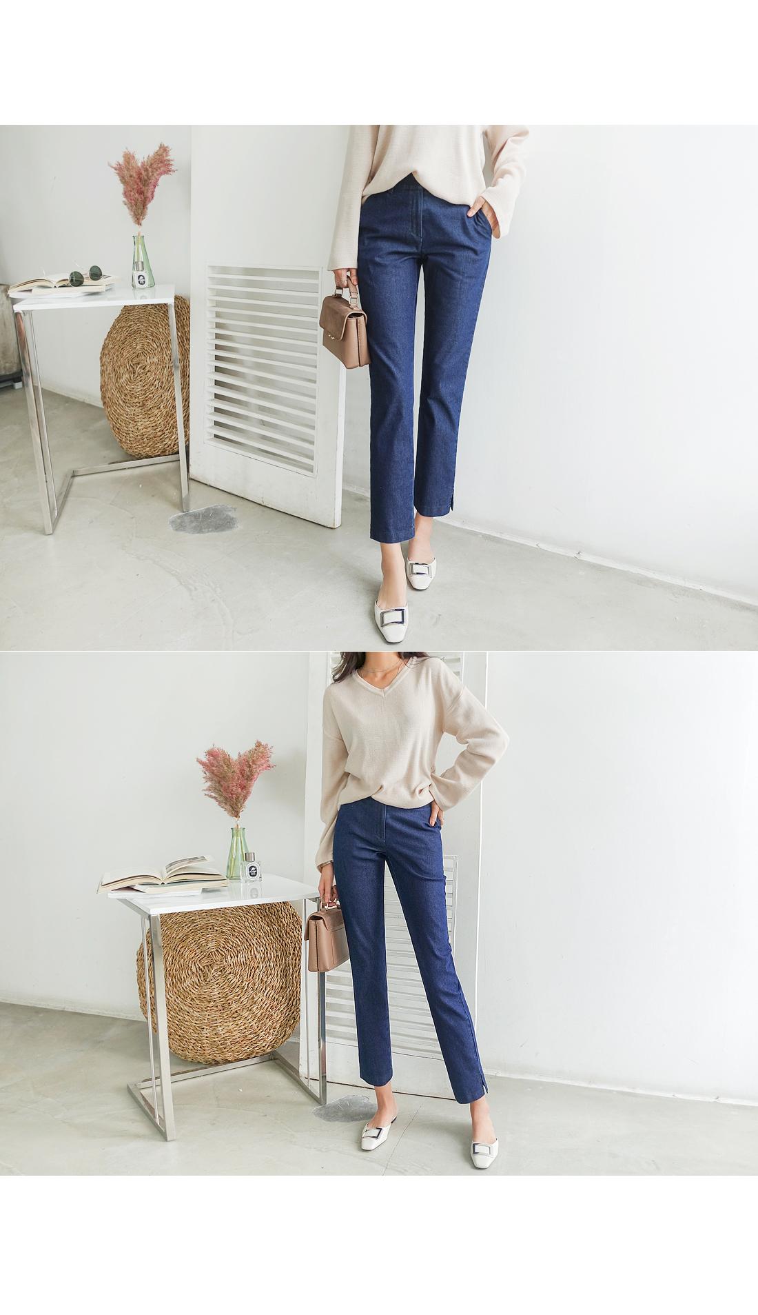 Comfortable blue banding slacks pants #74879 blue S, blue M, blue XL available