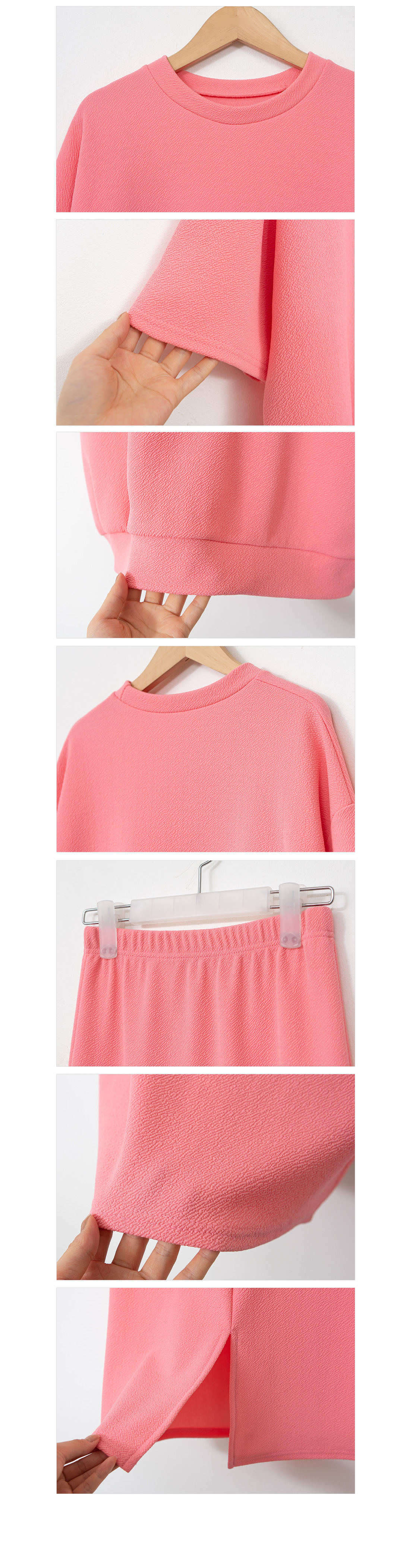 Wrinkle-free comfortable daily skirt set #92521F available for purchase