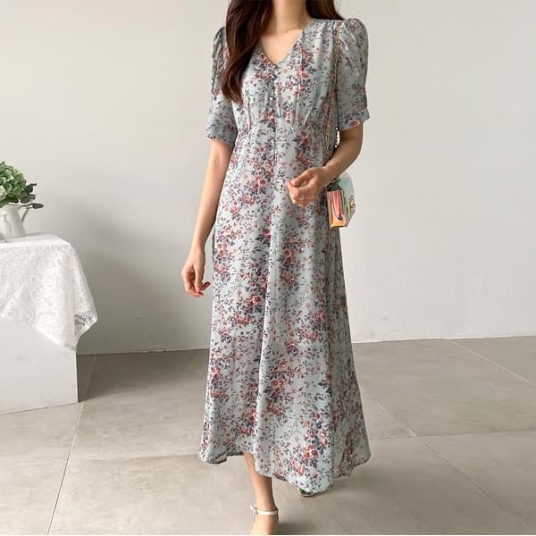 Isabelle Flower Long Dress #37552