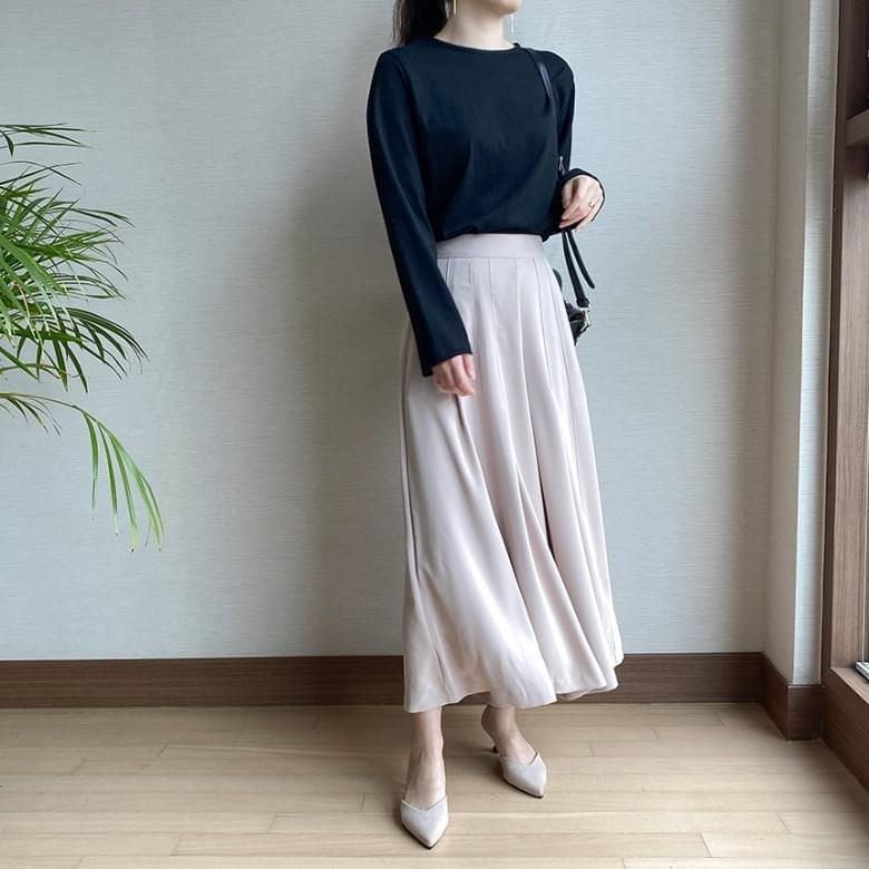 Freejay Wide Flare Skirt Pants 2colors