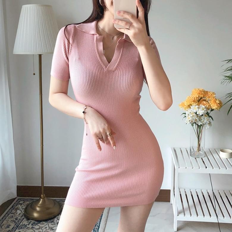 Pre-J Line Mini Pique Dress 6colors