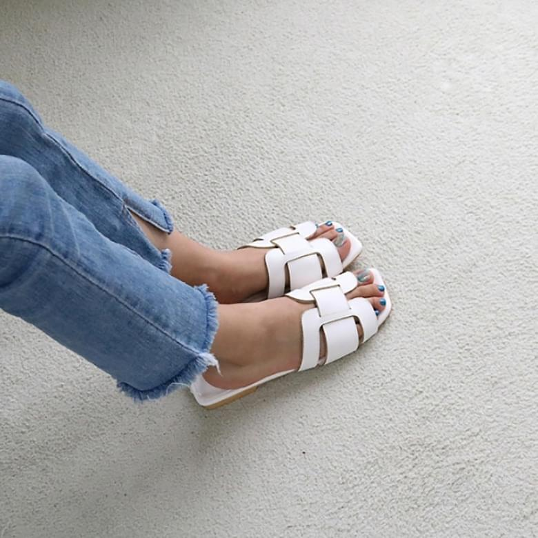 Jaming Square H Slippers 2colors