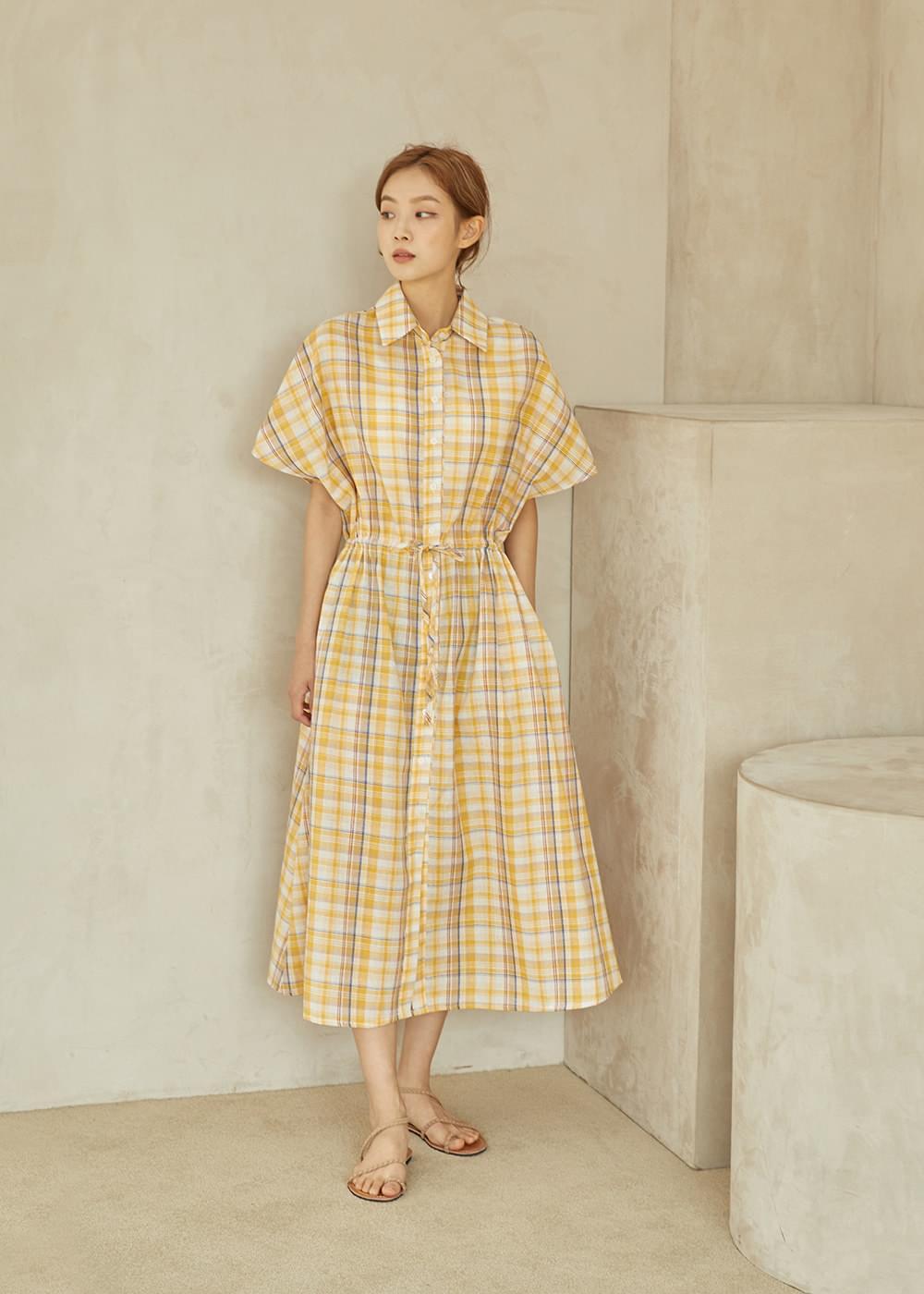 Nagrand Check Long Dress