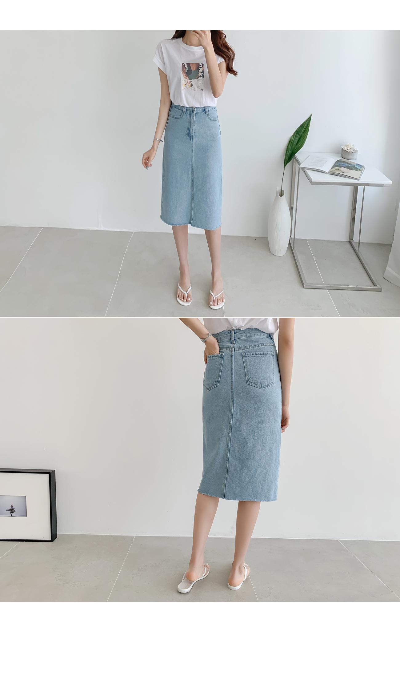 Unbalt H Denim Skirt #51139 Blue S Available