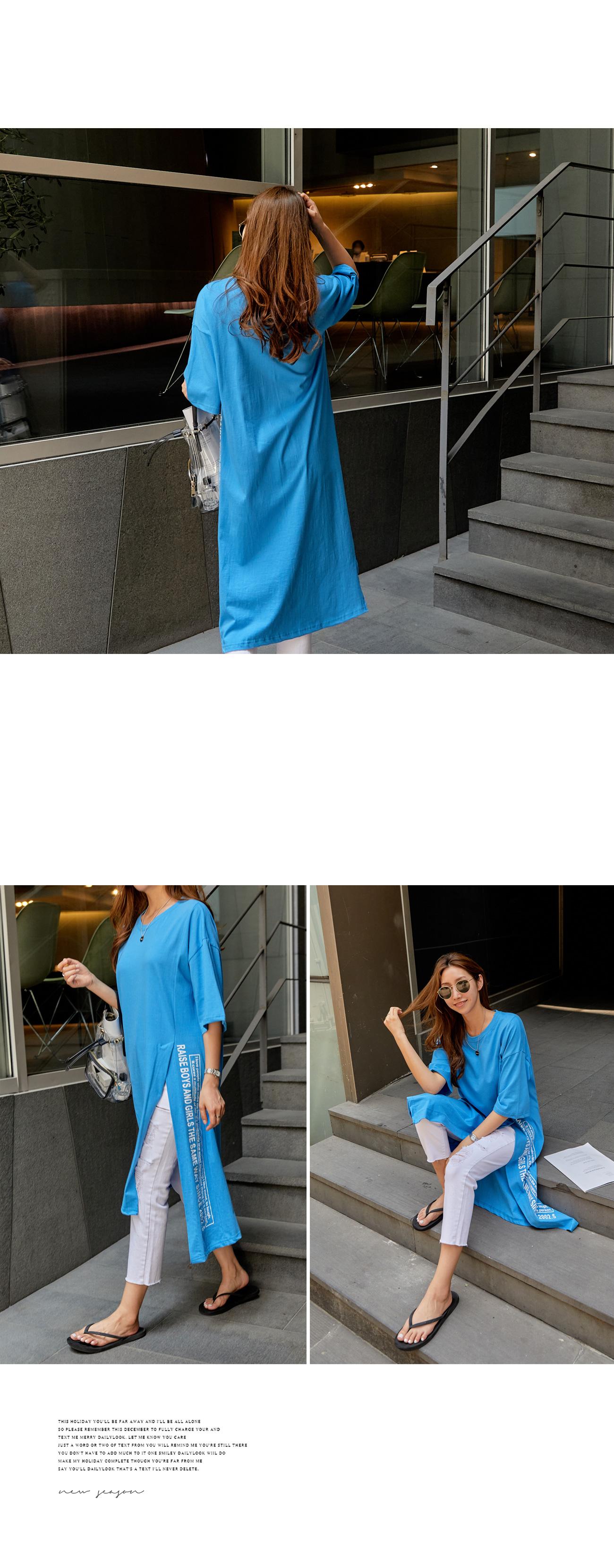 Raise Trim Lettering Dress #37600F Available