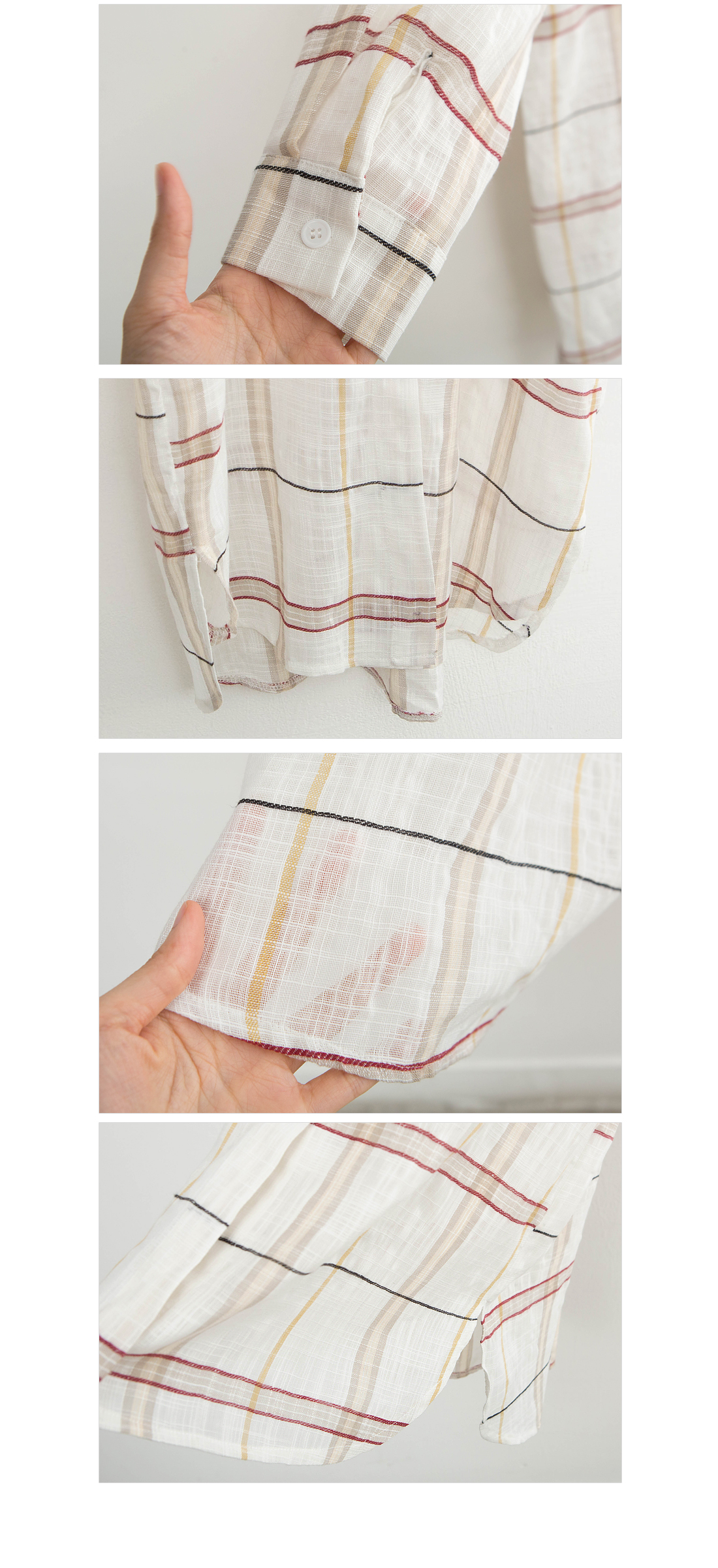 Natural Linen Check Long Southern #44556F Available
