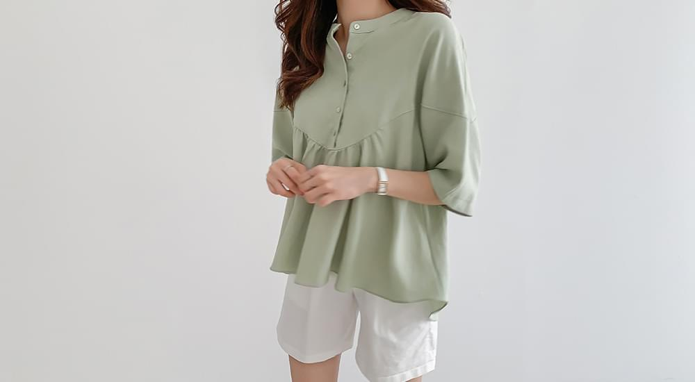 Lovely Shirring Blouse #44507F Available