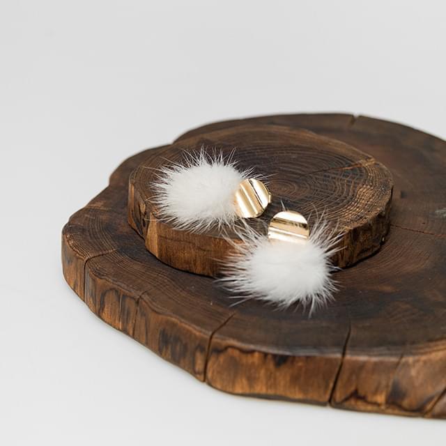 real mink earring