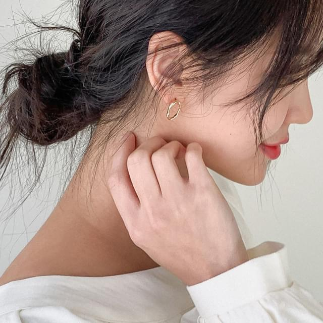 Vintage wave earrings