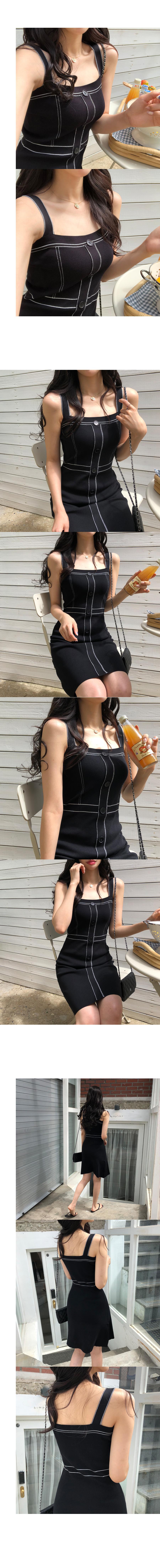 Line Bustier Knit Dress