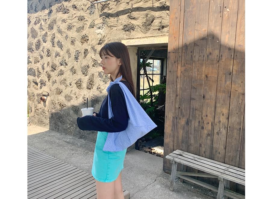 Flower Tie Shoulder Eco Bag