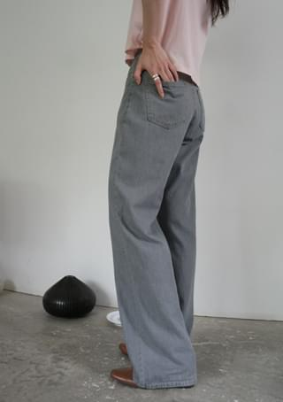 straight soft denim pants