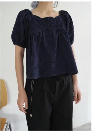 jacquard cotton blouse