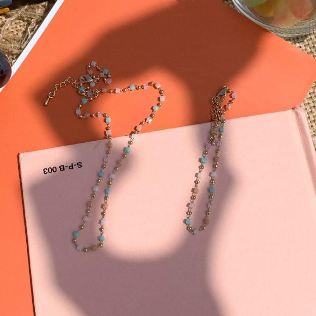 Color Mix Necklace Bracelet Set