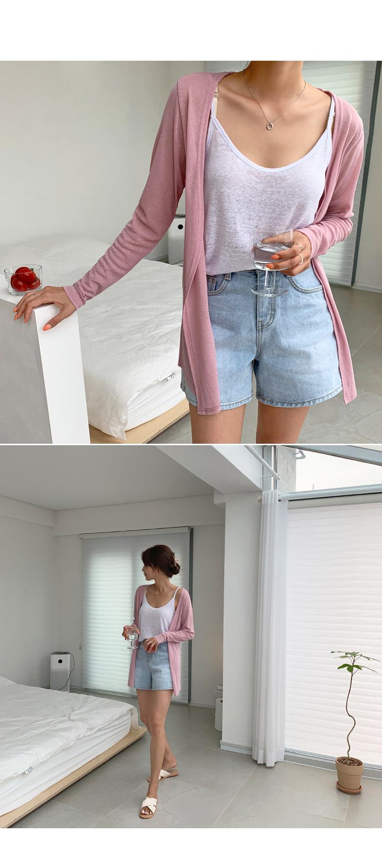 Summer Basic Open Cardigan