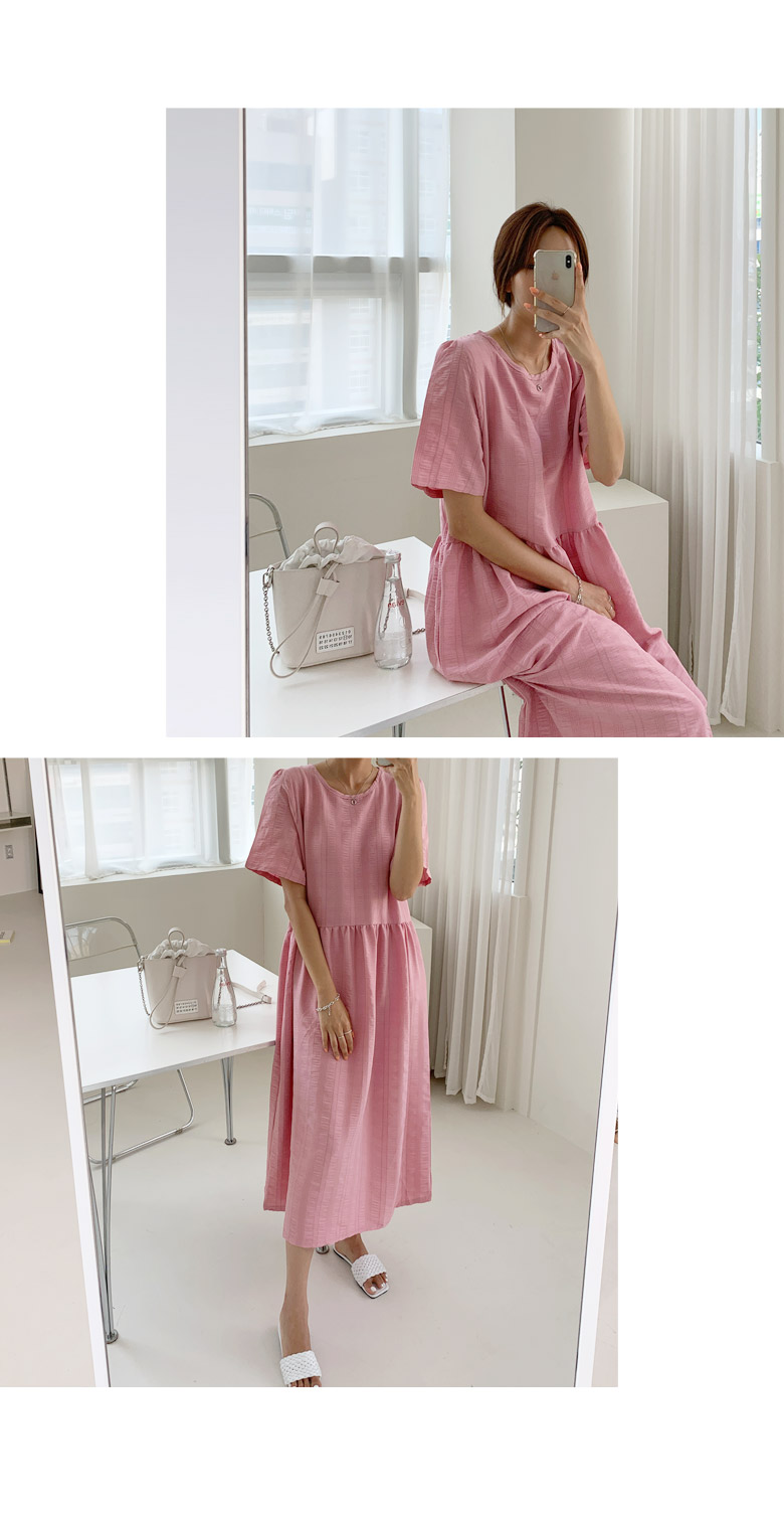 More Berry Cooling Loose Long Dress