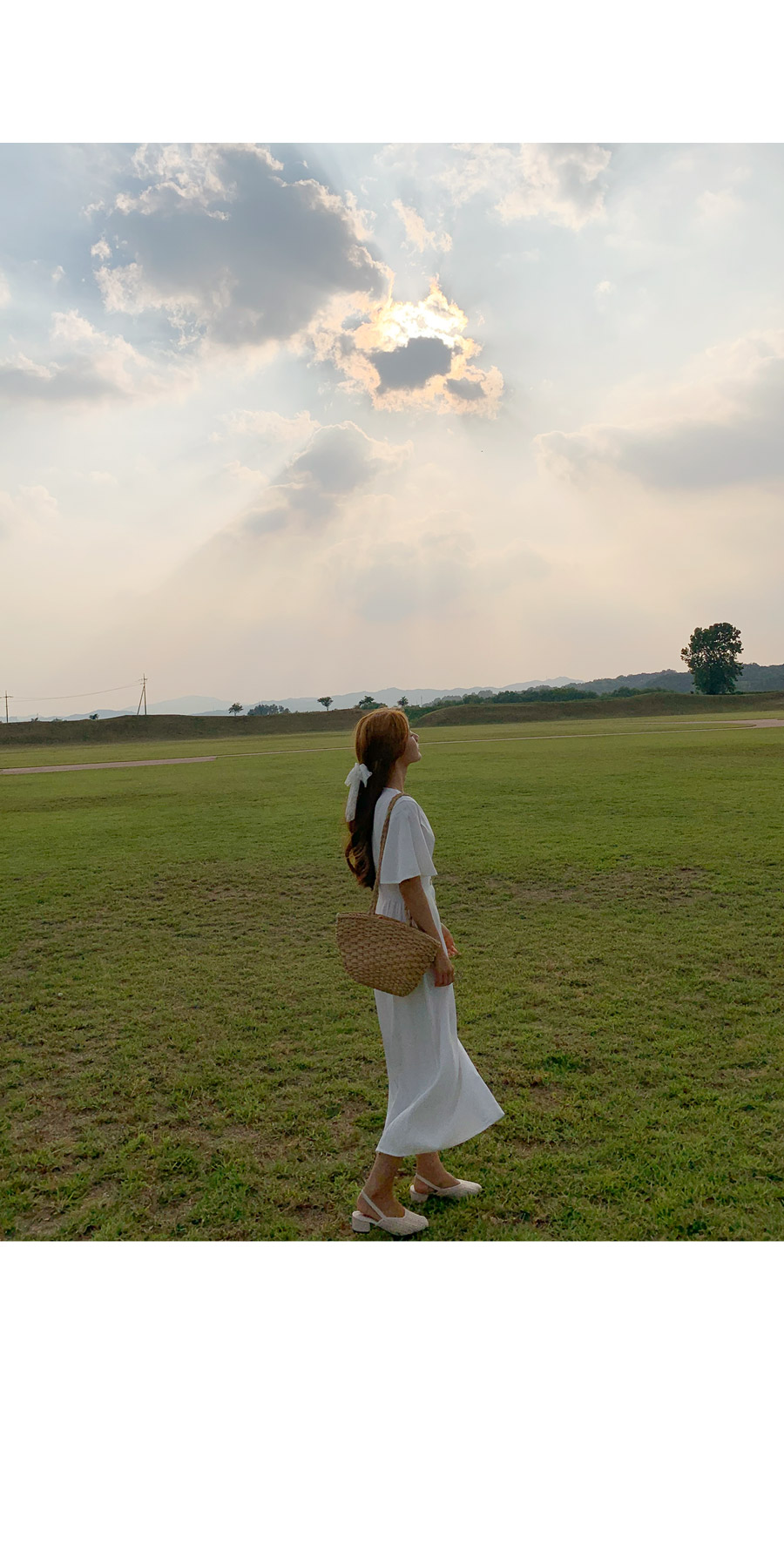 Angel smoke line long dress
