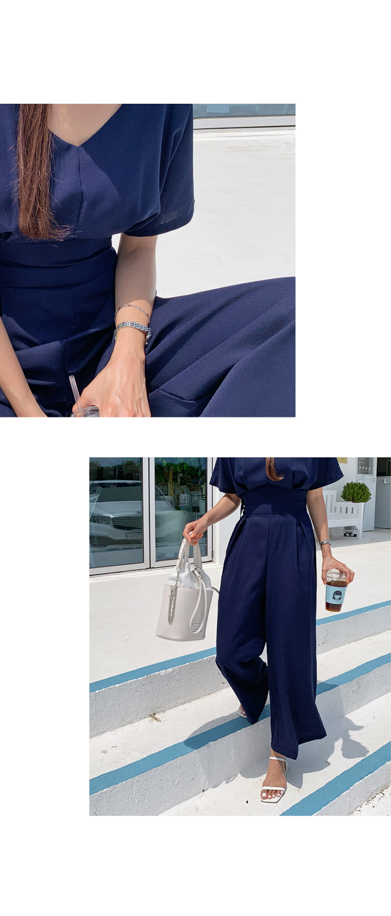 Jelly pin chin jumpsuit
