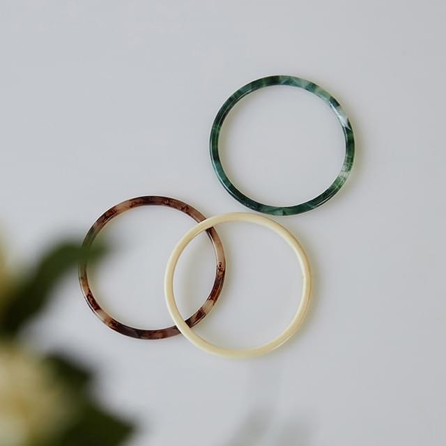 marbling thin bracelet
