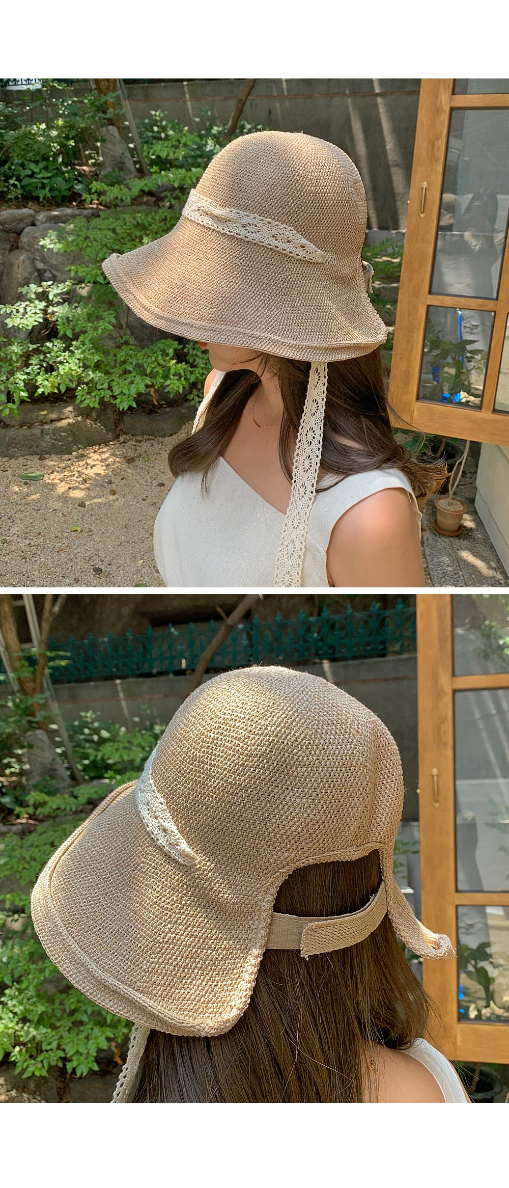 Vacation lace cap ♥ lace strap can be attached or detached