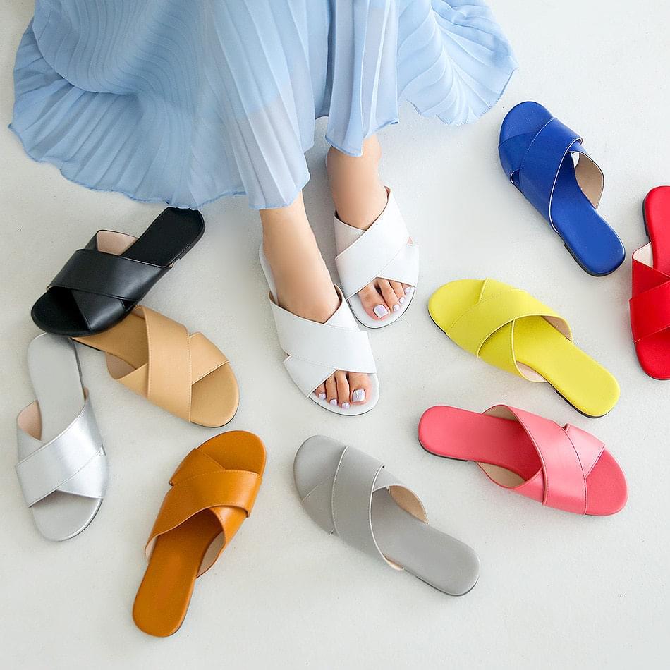 Piel slippers 1cm