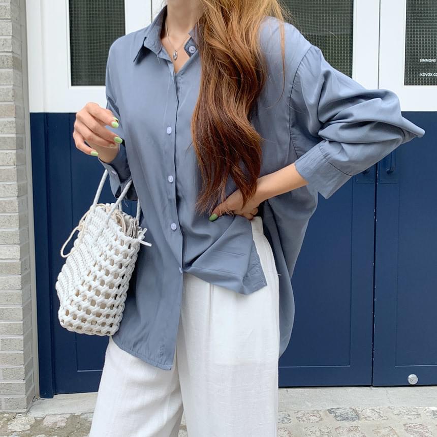 Seattle Silky Overfit Shirt Blouse