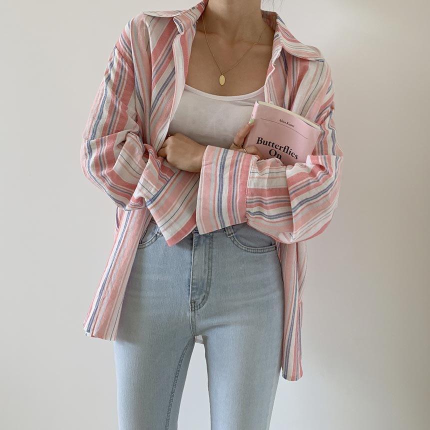 Casey Linen Striped Shirt shirt