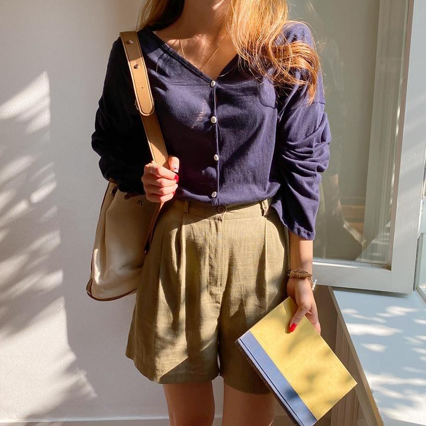 Pure Cotton Daily Basic Cardigan