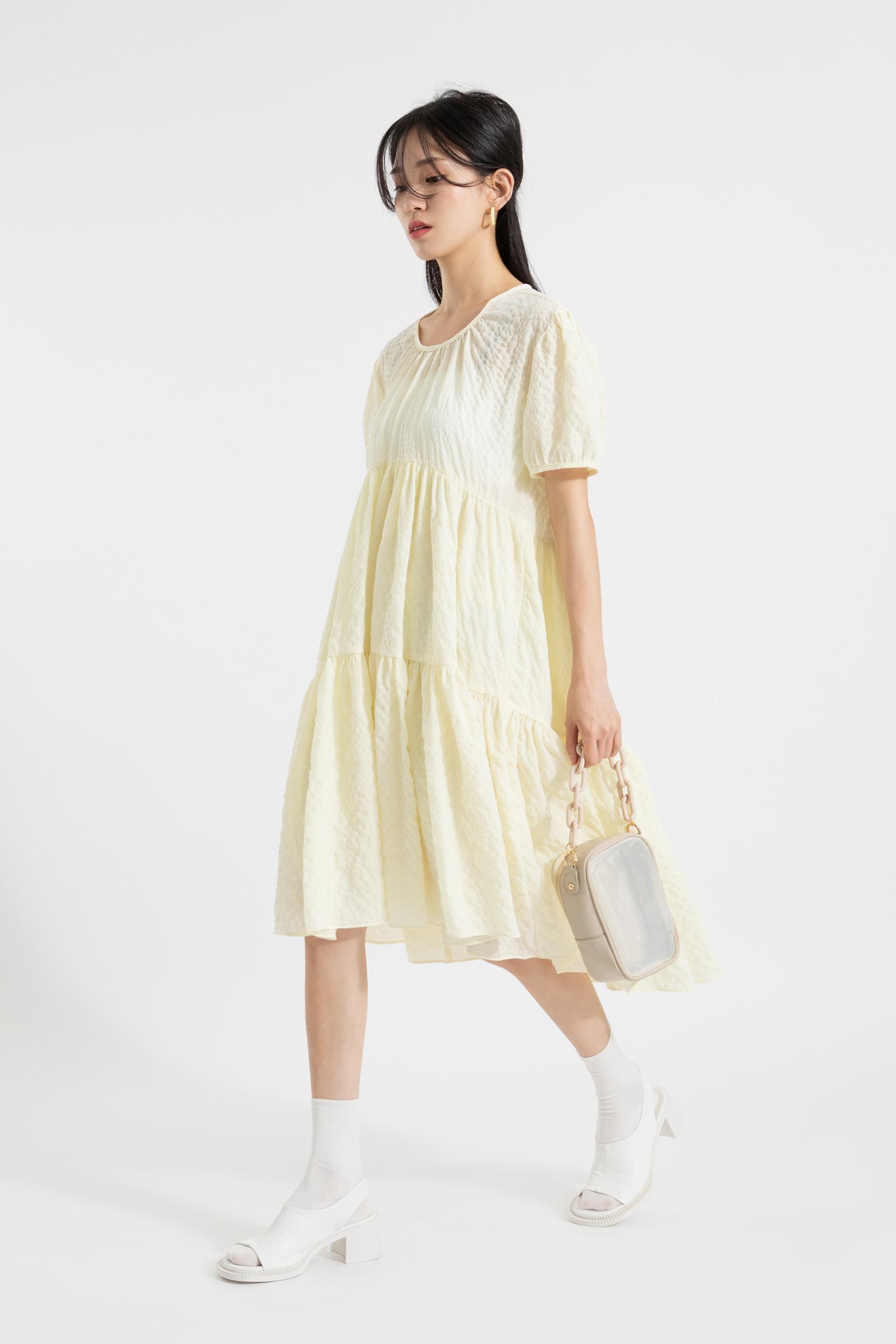 Mary back strap cancan midi dress