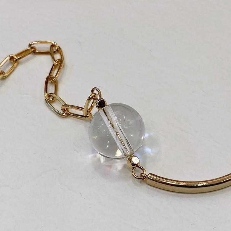 Neu clear gold bracelet