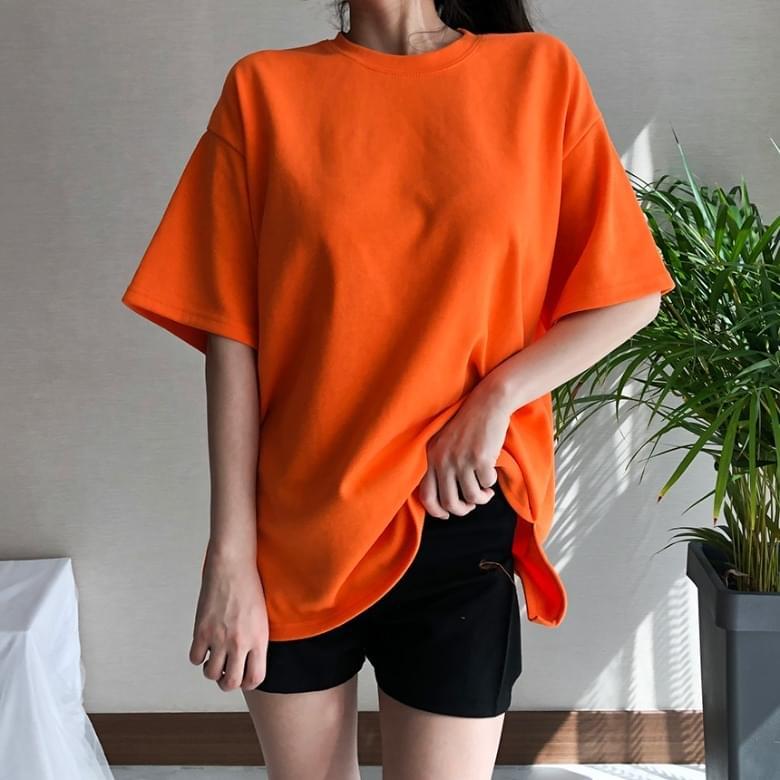 Freejay Basic Plain Short Sleeve T-Shirt 10colors