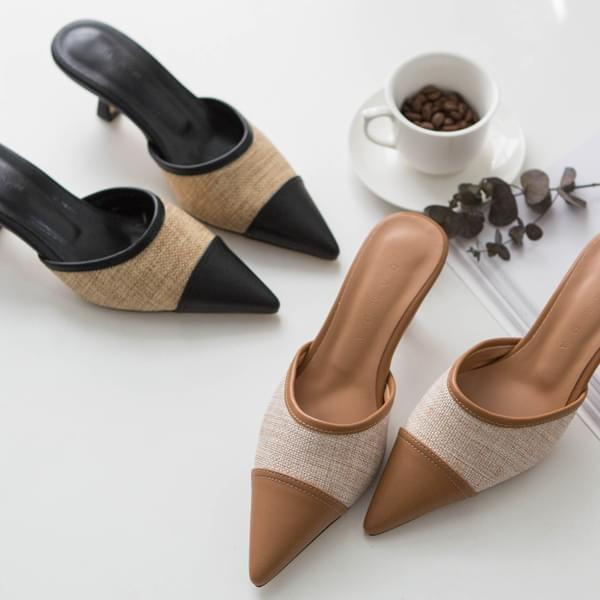 Pointed Two-tone Stiletto Mule #85216