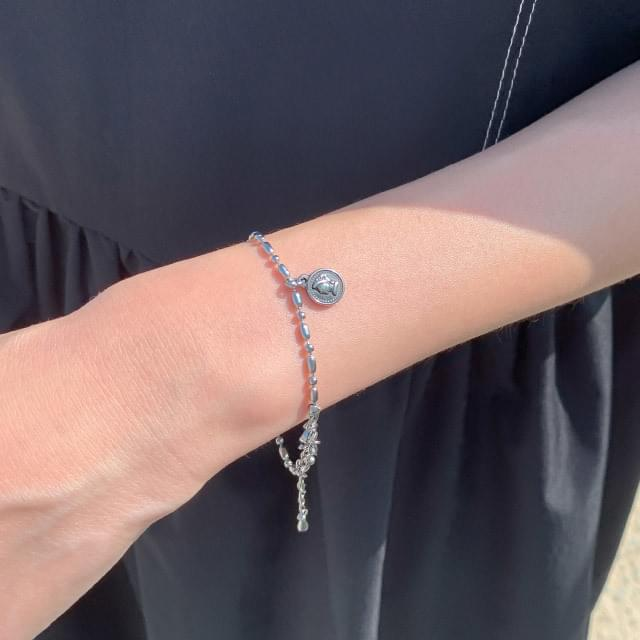 Silver Chain Pendant Bracelet