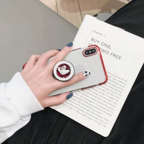 Swan Grip Ring iPhone Case