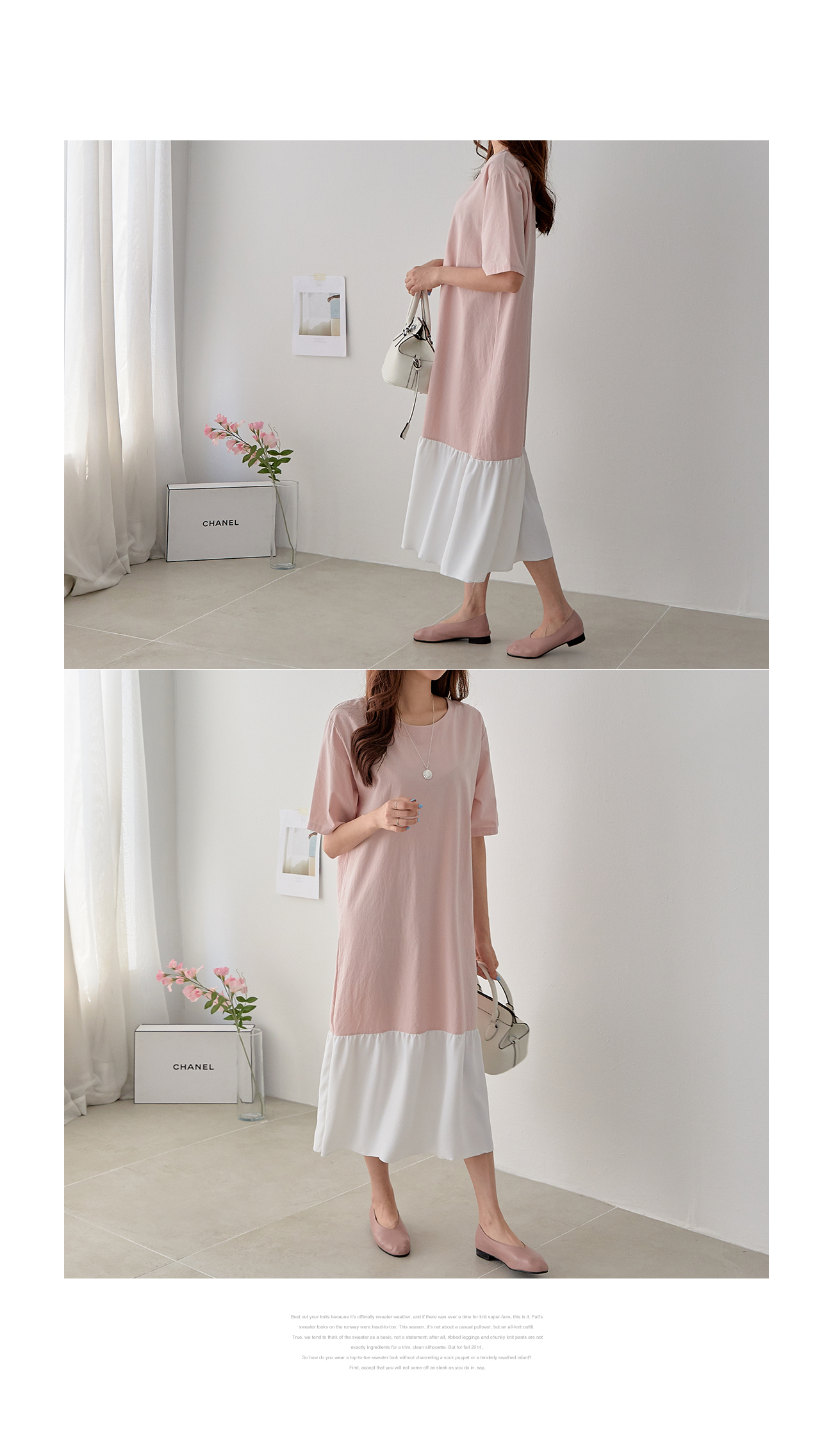 Hem color pleated dress #37090 F available