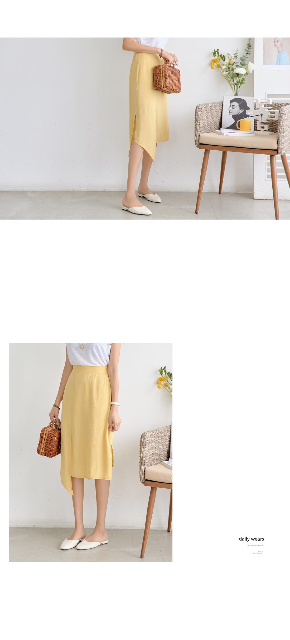 Unslit slit midi skirt #5945
