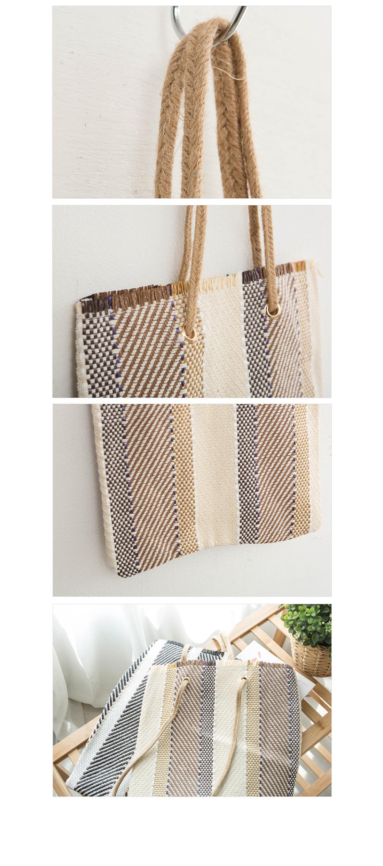 Summer Herringbone Ratan Shoulder Bag #85338