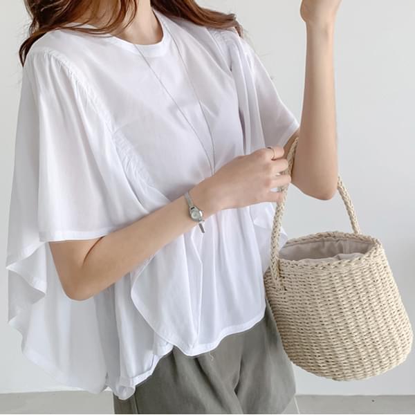 Skirt frill blouse #44500