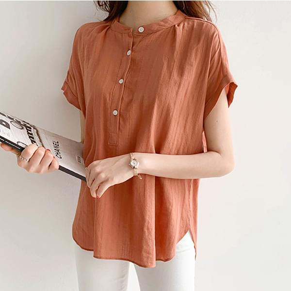 Button China short sleeve blouse #44516F available