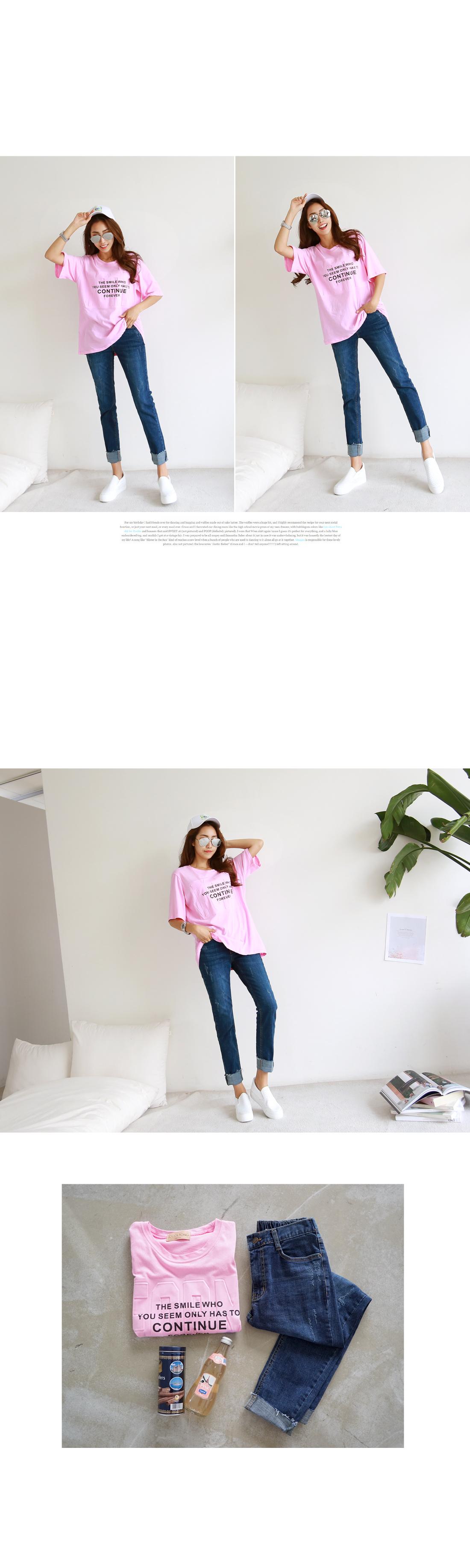 Maple embossed lettering t-shirt #104035