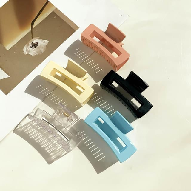 Acrylic transparent square hole hair clip 5color