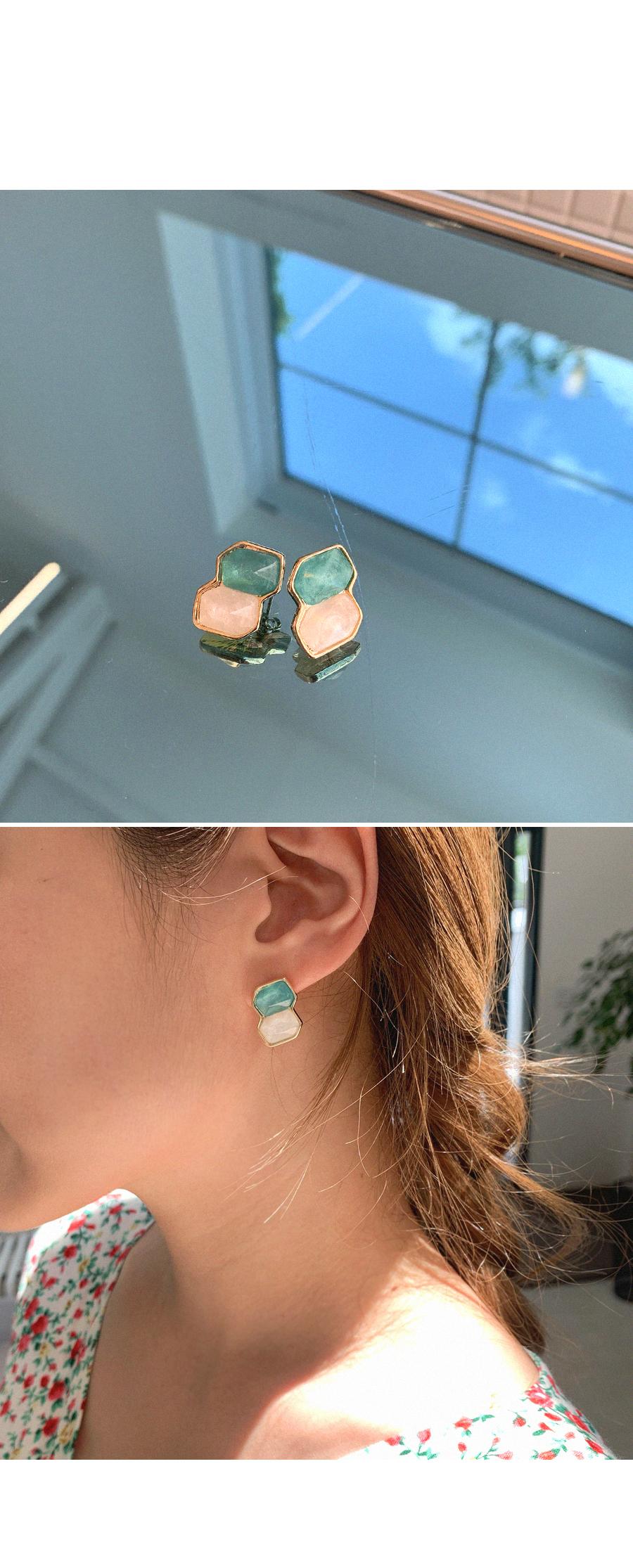 Two-tone jewelry earrings
