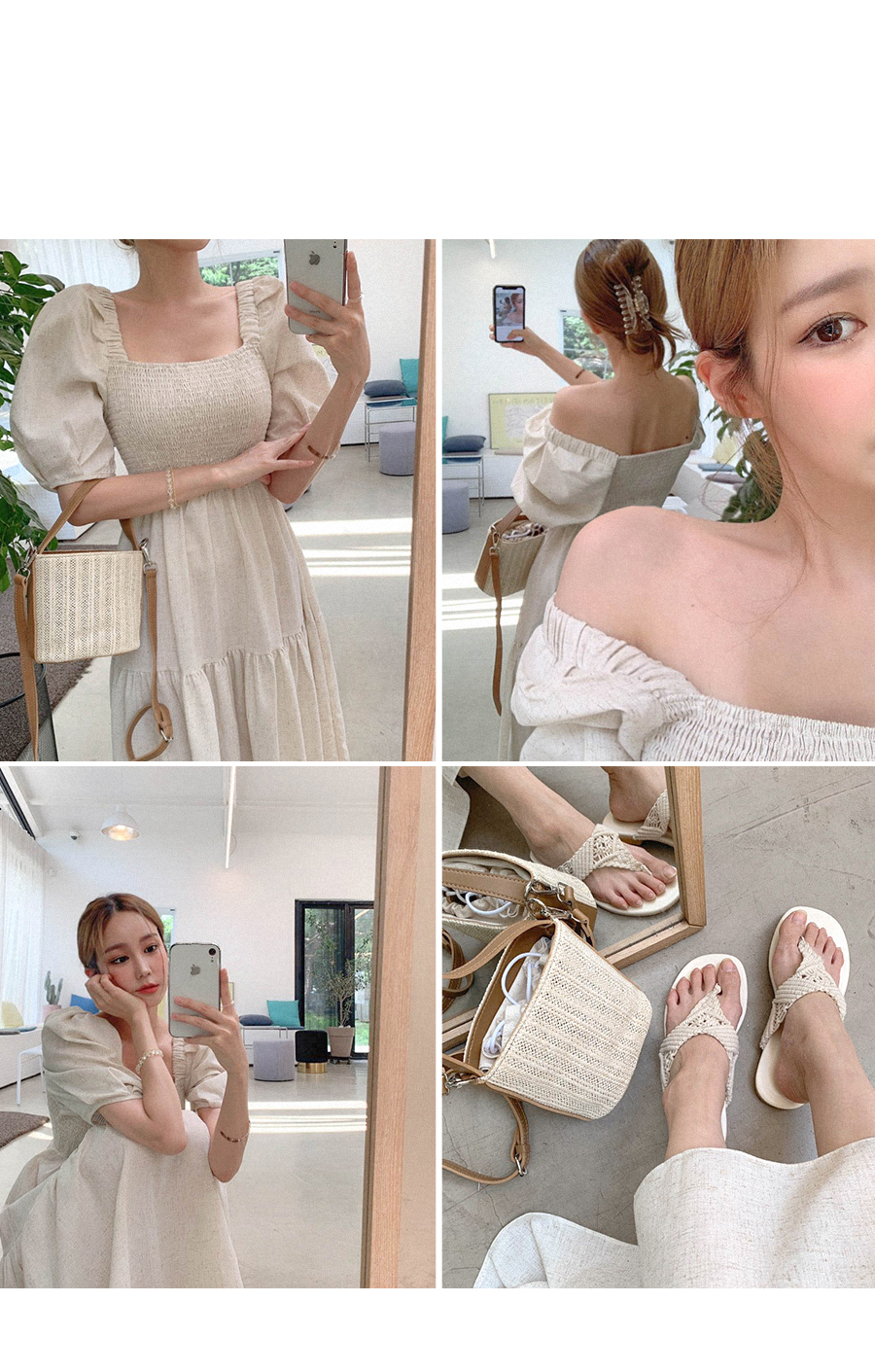Linen Smoke Kangcan Dress