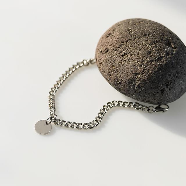 coin pendant chain bracelet