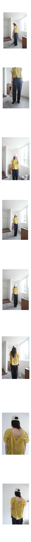 multi cotton shirring blouse