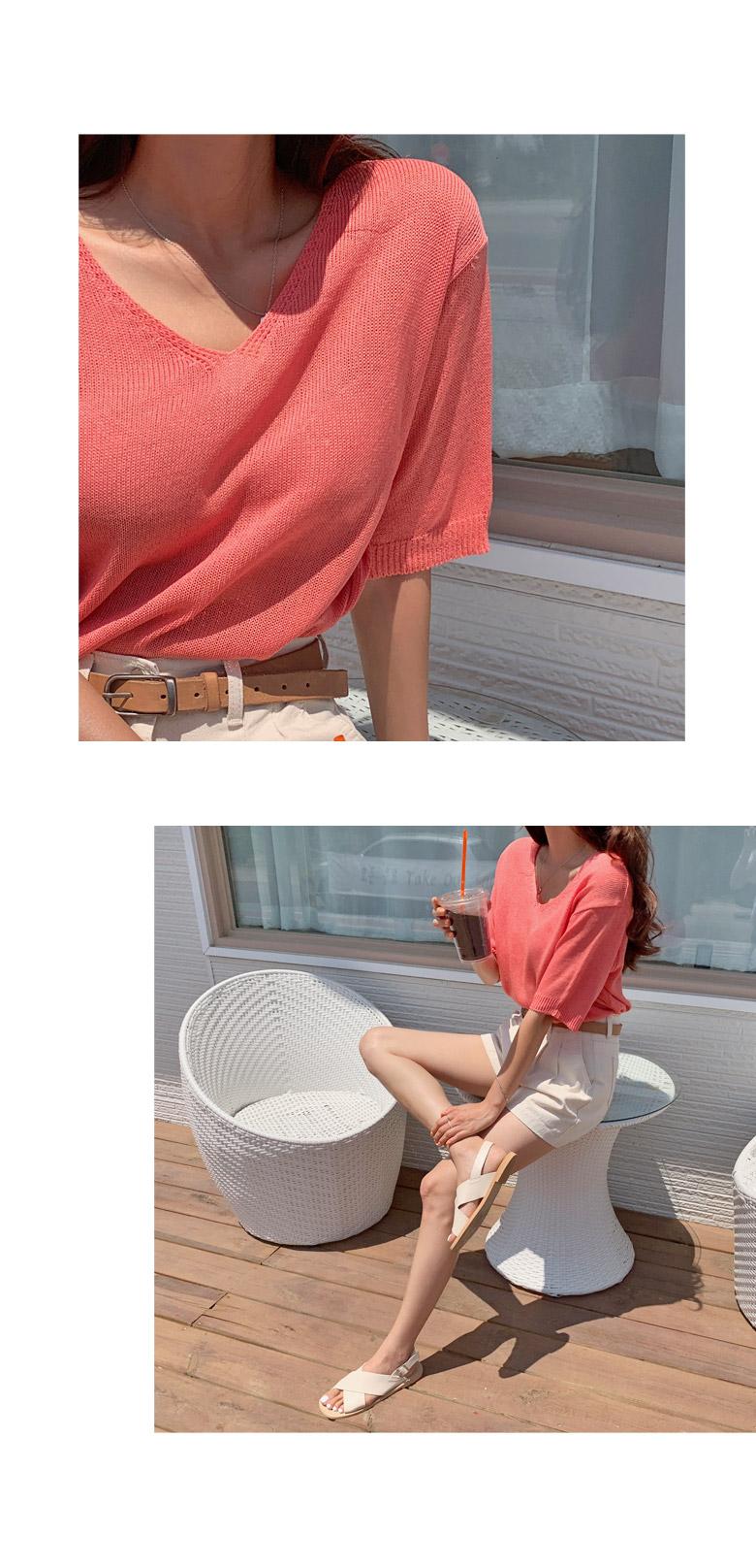 Rain Rouge FV Neck Summer Knit
