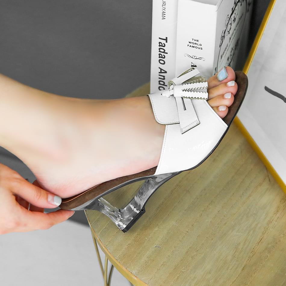 Teak Wedge Mule Slippers 7cm