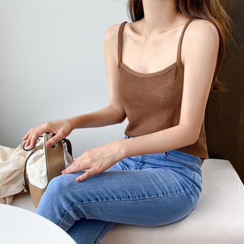 Ribbed clip Knitwear Sleeveless